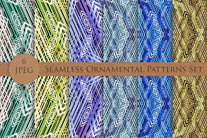 Seamless abstract ornamental pattern