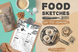 BIG set of food sketches
