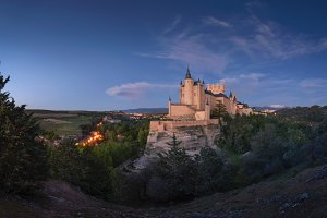 Segovia, Spain. The Alcazar of Segov