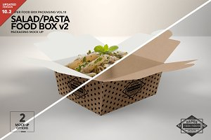 Salad Food Box v2 Packaging Mockup