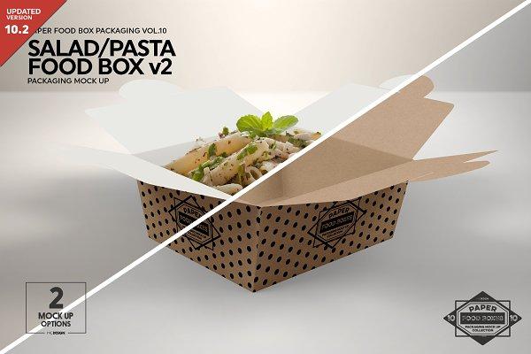Salad Food Box V2 Packaging Mockup Psd Mockups Templates All