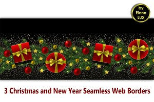 Winter Holiday Seamless Web Banners