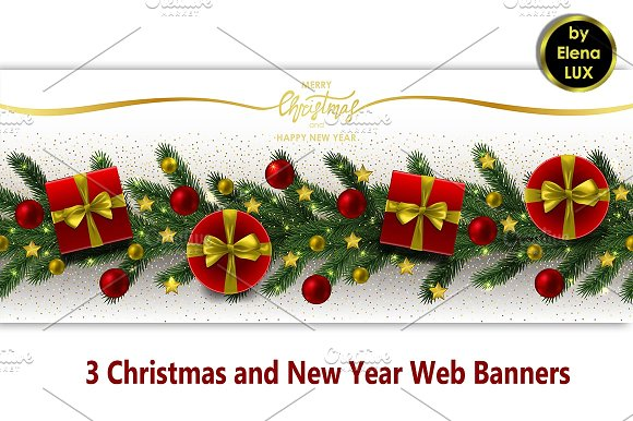 Winter Holiday Banners Moca Banners