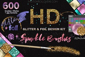 GLITTER-fOIL kit + Sparkle Brushes