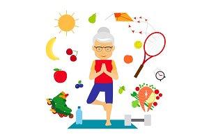 Senior woman healthy lifestyle