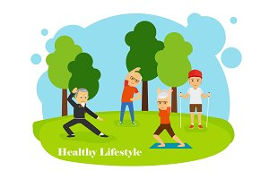 Old people healthy lifestyle