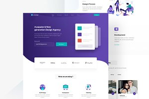Software agency landingpage template