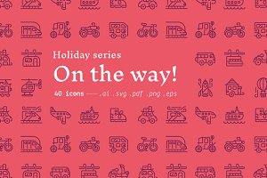 On the way! / holiday icons
