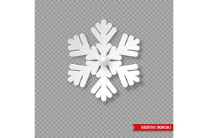 Christmas holiday snowflake with