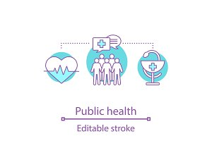 Public health concept icon