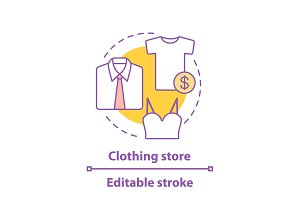 Clothing store concept icon