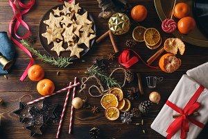 Christmas atmoshpere flatlay
