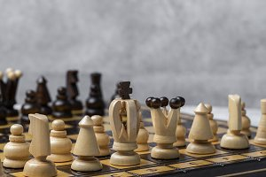 Chess board pieces