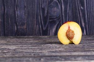 nectarine, cut into half