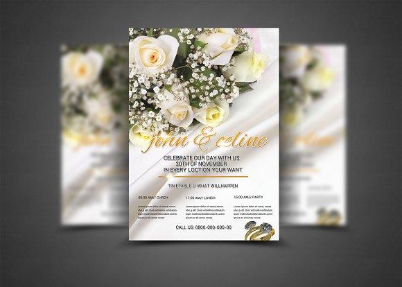 wedding flyer template flyer templates creative market