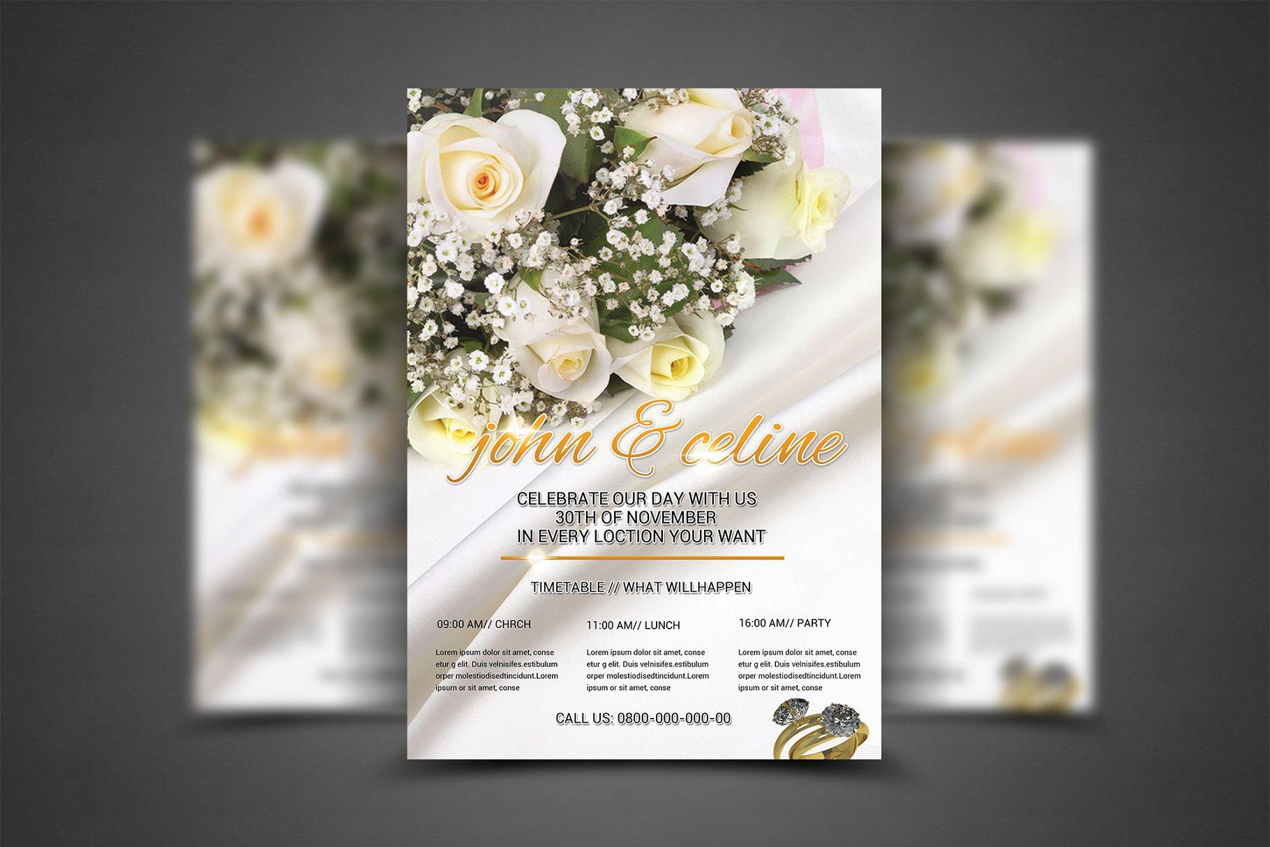 Wedding Flyer Template Flyer Templates Creative Market Pro - Wedding brochure template