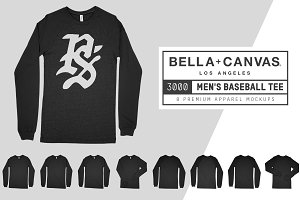 Bella Canvas 3000 Baseball Tee Mocks