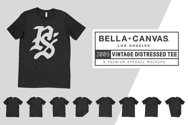 Bella Canvas 3009 Distressed T-Shir…