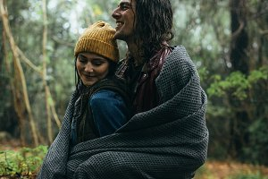 Couple enjoying