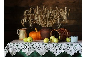 Still life in a rustic style