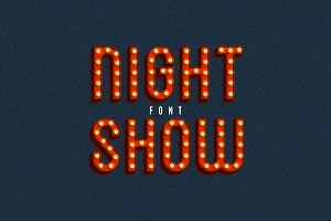 Night Show SVG Font
