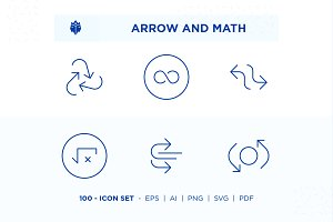 Arrow and Math Icon Set