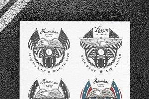 Vintage motorcycle emblems