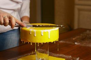 Honey cake. Cook