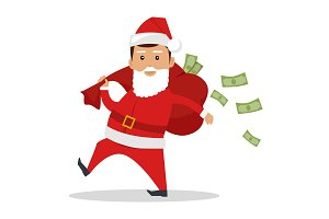 Santa Claus Character With Cash