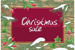Christmas Sale Banner. Winter Poster
