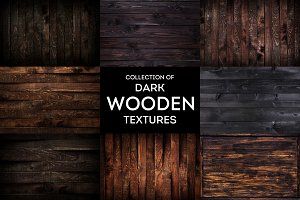 Dark wooden backgrounds collection