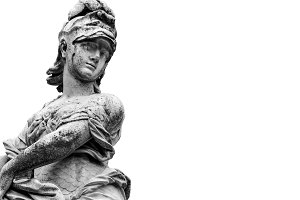 Man Ancient Sculpture Background
