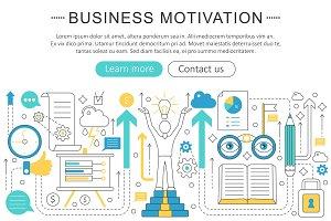 Vector business motivation concept.