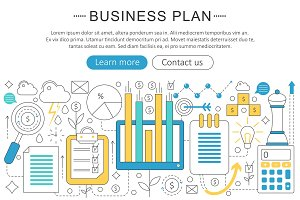 Business finance plan concept.