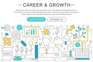 Vector career and growing concept.