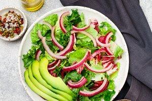 Delicious vegetarian light salad