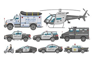 Police car vector policy vehicle or