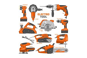 Power tools vector electric