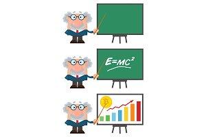 Professor Or Scientist Cartoon - 2