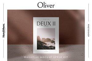 Oliver - Magazine mockup scene kit
