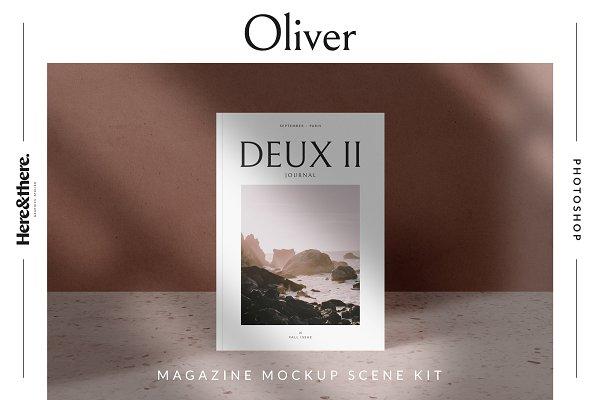 Product Mockups - Oliver - Magazine mockup scene kit