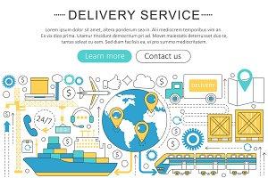 Delivery cargo service concept.