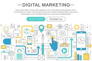 Vector digital marketing concept.