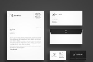 Simple Minimal Stationery Templates