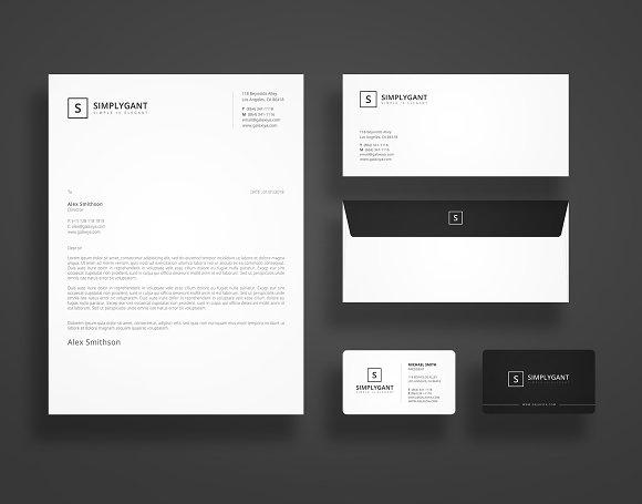 simple minimal stationery templates stationery templates