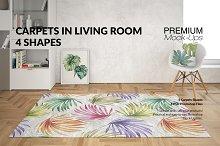 Carpets & Pillow in Living Room Set
