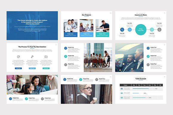 Effective Powerpoint Template Presentation Templates Creative Market