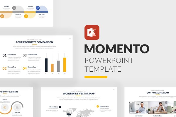 Momento Business PowerPoint Templat…