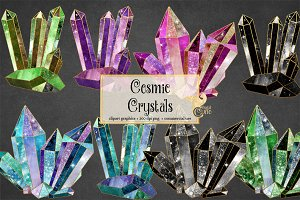 Cosmic Crystals Clipart