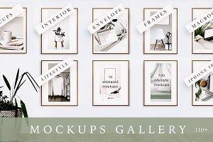 MOCKUPS GALLERY. 100+